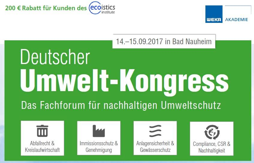 Deutscher Umweltkongress 2017 - ecoistics.institute
